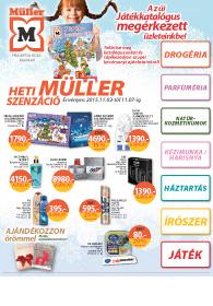 Müller akciós újság, online katalógus