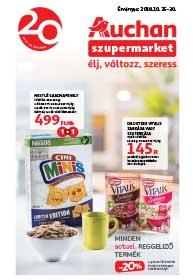 Auchan Szupermarket akciós újság 2018. 10.25-10.30