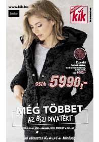Kik textil akciós újság 2018. 10.24-től