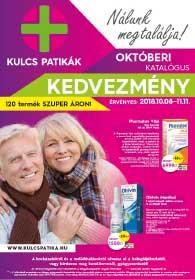 Kulcs patika akciós újság 2018. 10.08-11.11