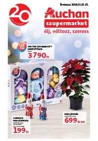 Auchan Szupermarket akciós újság 2018. 11.15-11.21