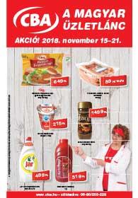 CBA akciós újság 2018. 11.15-11.21