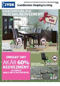 JYSK akciós újság 2018. 11.08-11.21