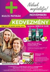 Kulcs patika akciós újság 2018. 11.12-12.09