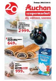 Auchan Szupermarket akciós újság 2018. 12.06-12.12