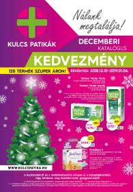 Kulcs patika akciós újság 2018.12.10-2019.01.06