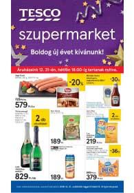 Tesco szupermarket akciós újság 2018. 12.27-12.31