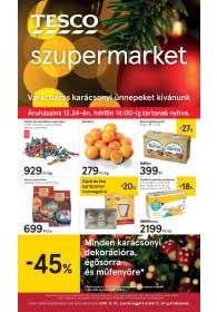 Tesco szupermarket akciós újság 2018. 12.19-12.24