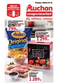 Auchan Szupermarket akciós újság 2019. 02.07-02.13