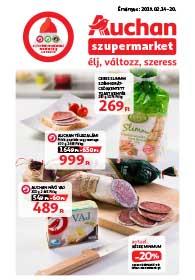 Auchan Szupermarket akciós újság 2019. 02.14-02.20
