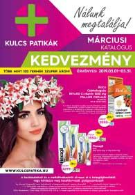 Kulcs patika akciós újság 2019. 03.01-03.31