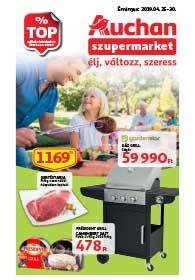 Auchan Szupermarket akciós újság 2019. 04.25-04.30