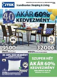 JYSK akciós újság 2019. 04.18-05.01