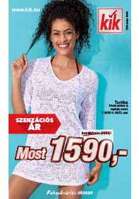 Kik textil akciós újság 2019. 05.08-tól