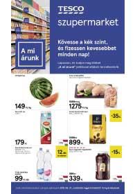 Tesco szupermarket akciós újság 2019. 06.27-07.03
