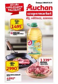 Auchan Szupermarket akciós újság 2019. 07.11-07.17