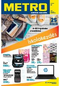 Metro Iskolakezdés katalógus 2019. 07.31-08.13