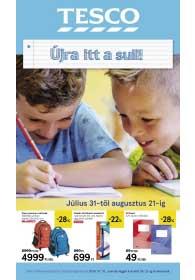 Tesco Iskolakezdés katalógus 2019. 07.31-08.21