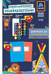 Aldi Iskolakezdés katalógus 2019. 07.25-től
