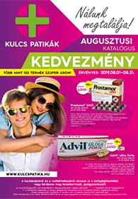 Kulcs patika akciós újság 2019. 08.01-08.31