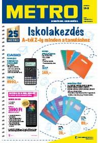 Metro Iskolakezdés katalógus 2019. 08.14-09.10