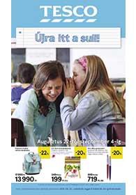 Tesco Iskolakezdés katalógus 2019. 08.22-09.04