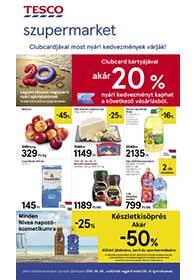 Tesco szupermarket akciós újság 2019. 08.08-08.14