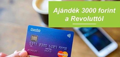 Revolut – 3000Ft ajándékba + ingyenes bankkártya