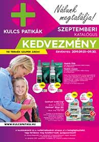 Kulcs patika akciós újság 2019. 09.01-09.30