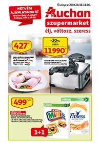 Auchan Szupermarket akciós újság 2019. 10.31-11.06