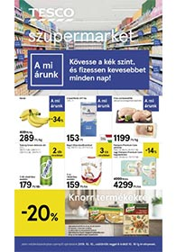 Tesco szupermarket akciós újság 2019. 10.10-10.16