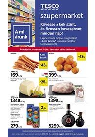 Tesco szupermarket akciós újság 2019. 10.31-11.06
