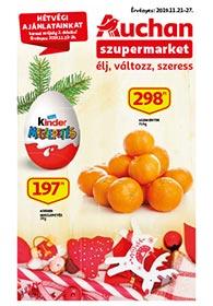Auchan Szupermarket akciós újság 2019. 11.21-11.27