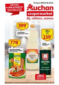 Auchan Szupermarket akciós újság 2019. 11.28-12.04