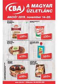 CBA akciós újság 2019. 11.14-11.20