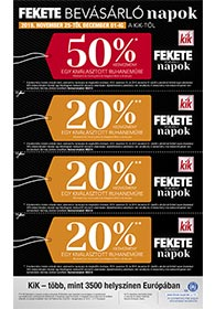 Kik textil BLACK FRIDAY 2019. 11.25-12.01