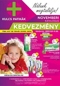 Kulcs patika akciós újság 2019. 11.01-11.30