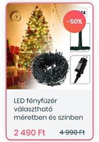 LED fényfüzér választható méretben és színben