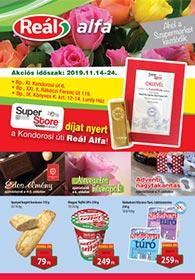 Reál Alfa akciós újság 2019. 11.14-11.24
