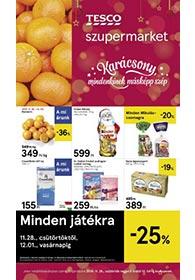 Tesco szupermarket akciós újság 2019. 11.28-12.04