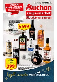 Auchan Szupermarket akciós újság 2019. 12.12-12.18
