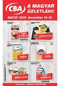CBA akciós újság 2019. 12.12-12.18