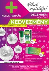 Kulcs patika akciós újság 2019. 12.01-12.31