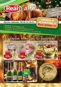 Reál Alfa akciós újság 2019. 12.19-12.31