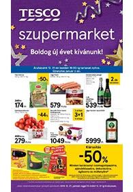 Tesco szupermarket akciós újság 2019. 12.27-12.31
