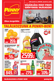 Penny Market akciós újság 2020. 01.16-01.22
