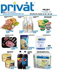 Privát Élelmiszer akciós újság 2020. 01.22-02.02