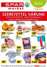 Spar Market akciós újság 2020. 01.23-01.29