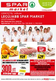 Spar Market Bak akciós újság 2020. 01.09-01.15