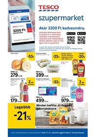 Tesco szupermarket akciós újság 2020. 01.23-01.29